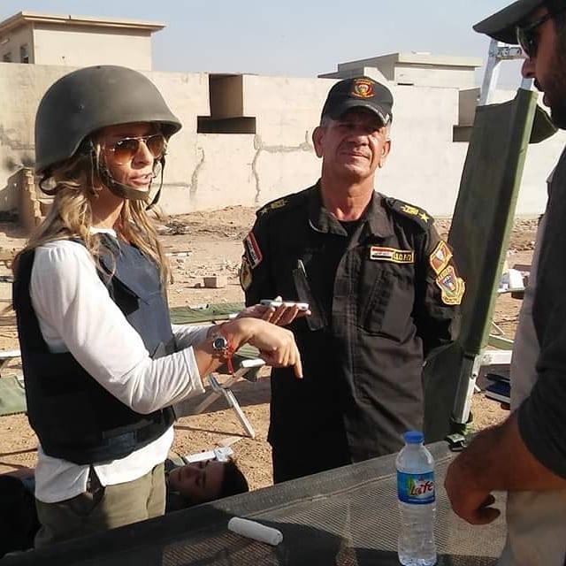Gaja Pellegrini-Bettoli during Mosul attack